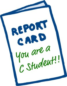 C student report card