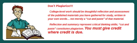 This community college says don't plagiarize, while they do just that.