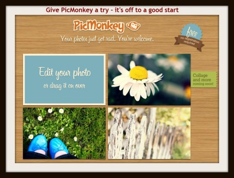 Screenshot of Picmoney from March 2012
