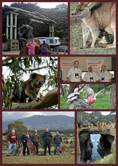 Collage of photos from Australia trip in September 2012