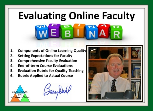 Webinar banner: evaluating online faculty