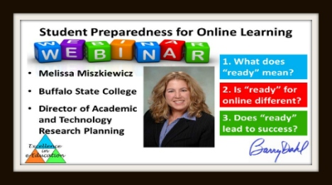 Webinar banner: student preparedness for online learning