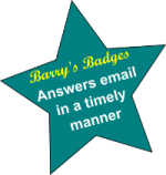 Barry's badge for answering email promptly